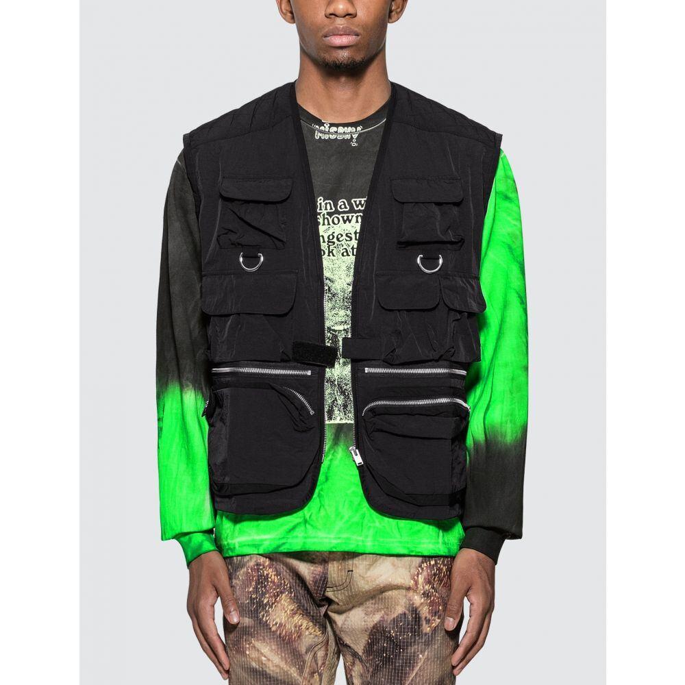 ミスビヘイブ Misbhv メンズ ベスト・ジレ トップス【Fisherman Vest】Black