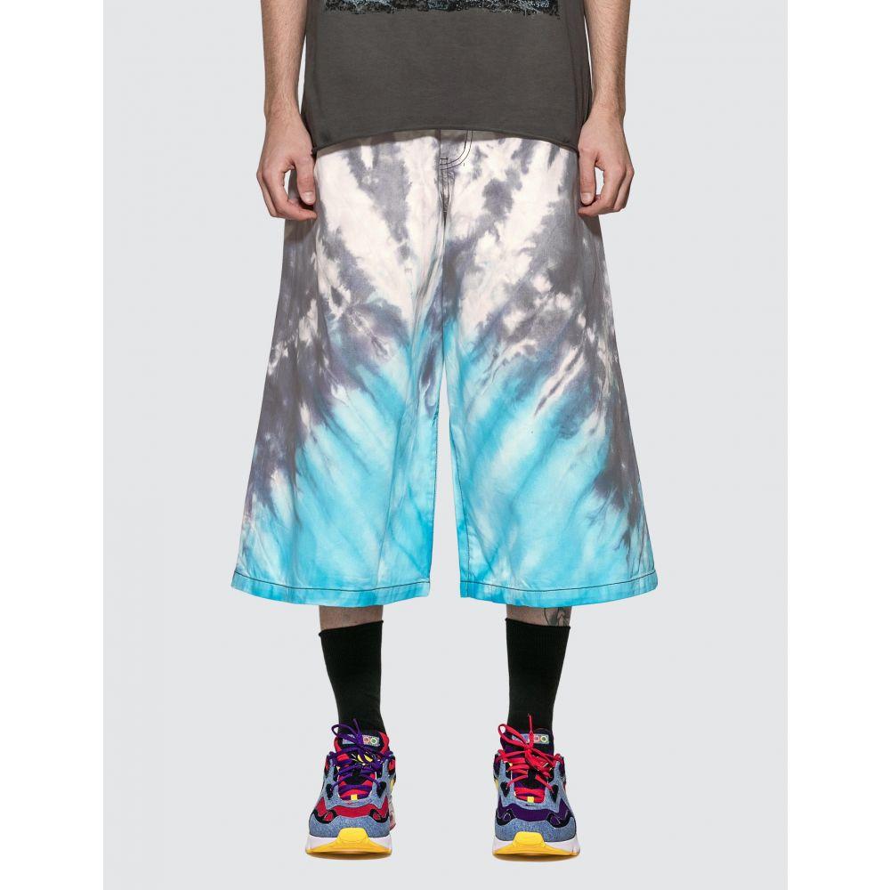 リアムホッジ Liam Hodges メンズ ショートパンツ デニム ボトムス・パンツ【Tie Dye Denim Shorts】Blue