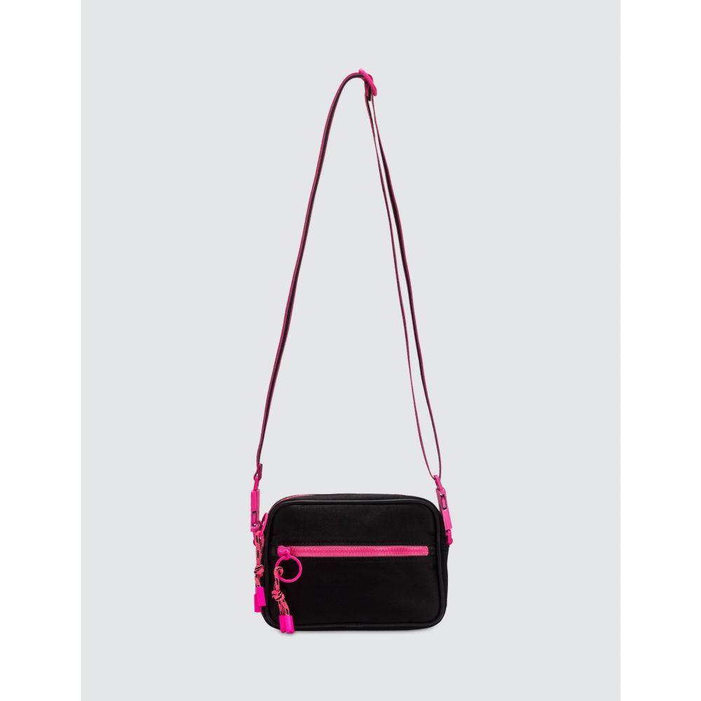マルセロバーロン Marcelo Burlon レディース ショルダーバッグ バッグ【Cross Fluo Belt Strap Bag】Black Fuchsia