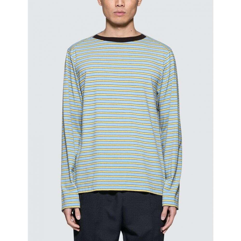 マルニ Marni メンズ 長袖Tシャツ トップス【L/S T-Shirt】Light Blue/yellow