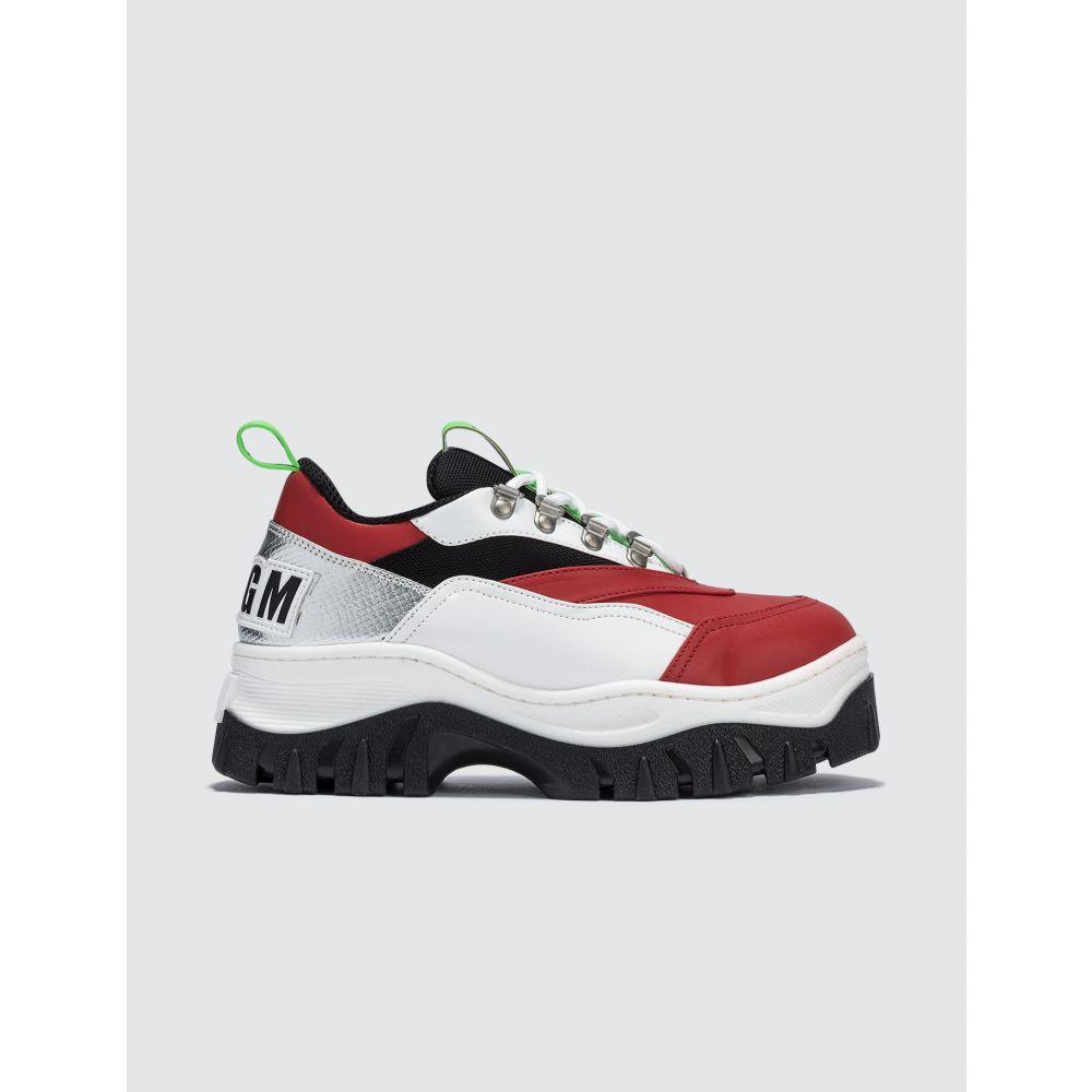 エムエスジーエム MSGM レディース スニーカー ローカット シューズ・靴【Chucky Low Top Sneaker】Red
