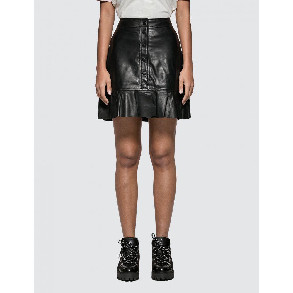 ガニー Ganni レディース スカート 【Rhinehart Leather Skirt】Black
