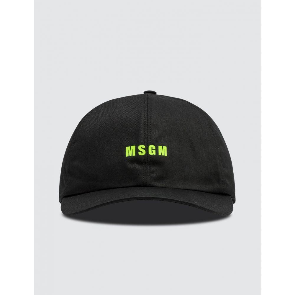 エムエスジーエム MSGM メンズ キャップ 帽子【Micro Logo Cap】Black