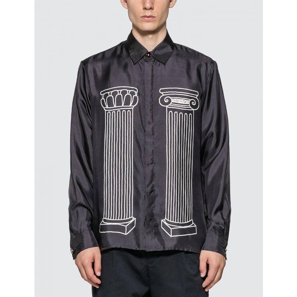 カサブランカ Casablanca メンズ シャツ トップス【Sid Silk Shirt】Black