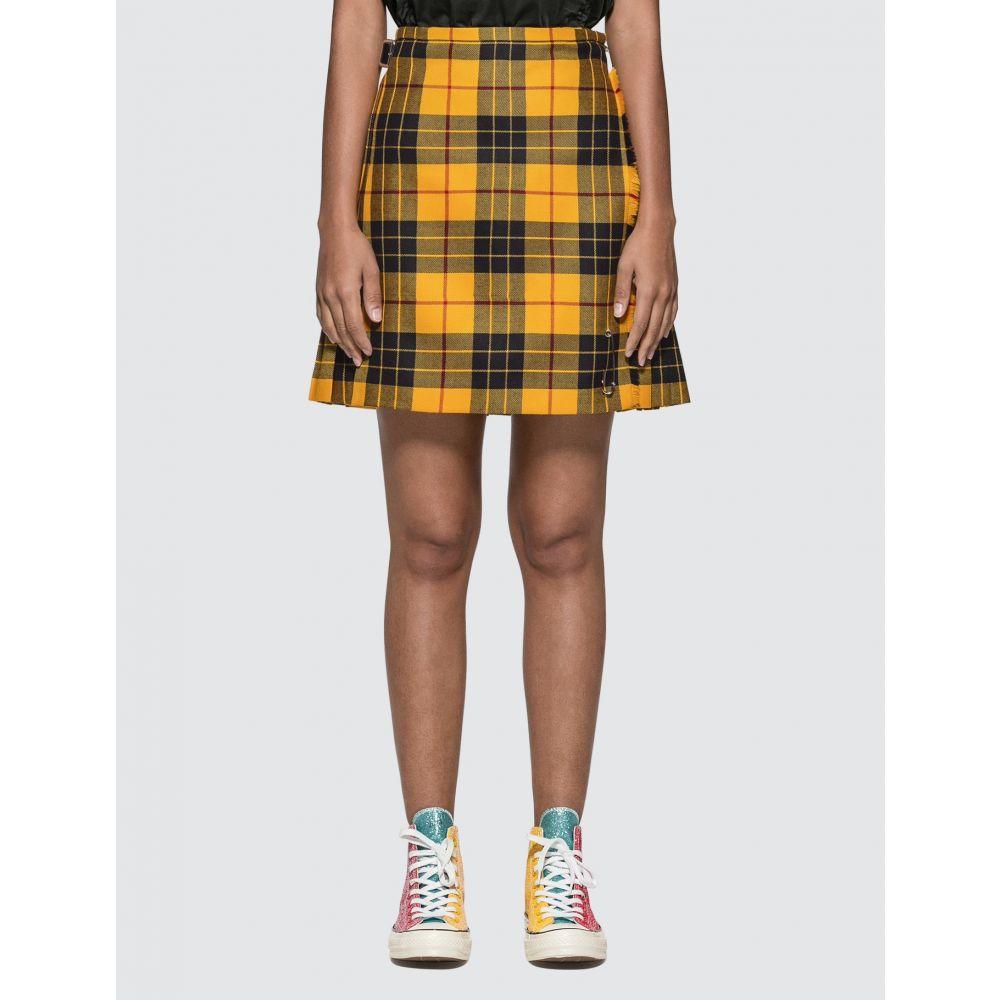 ルキルト Le Kilt レディース スカート 【Macleod Of Lewis Tartan 18-inch Skirt】Yellow