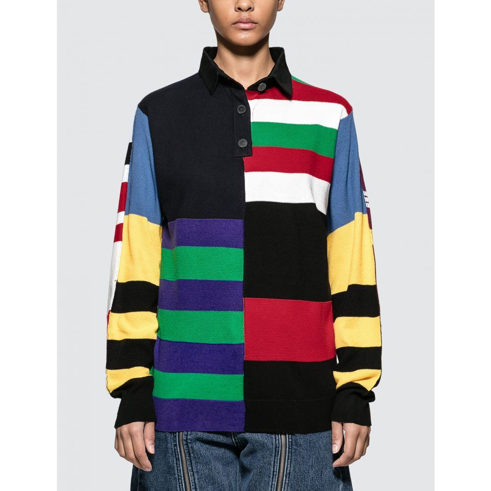 J.W.アンダーソン JW Anderson レディース ポロシャツ トップス【Knitted Stripe Rugby】Cobalt