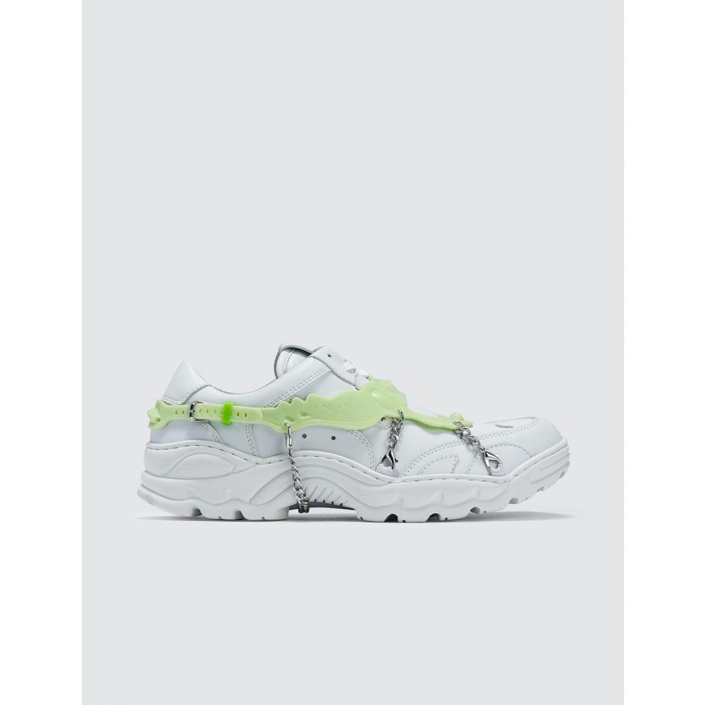 ロンバート Rombaut メンズ スニーカー シューズ・靴【Boccaccio M Sneaker with Chain】White W/ Green Cover