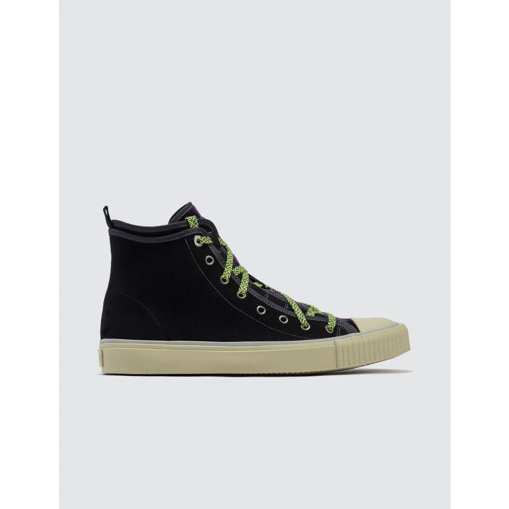 ランバン Lanvin メンズ スニーカー シューズ・靴【Mid Top Sneaker Canvas E Velvet】Black