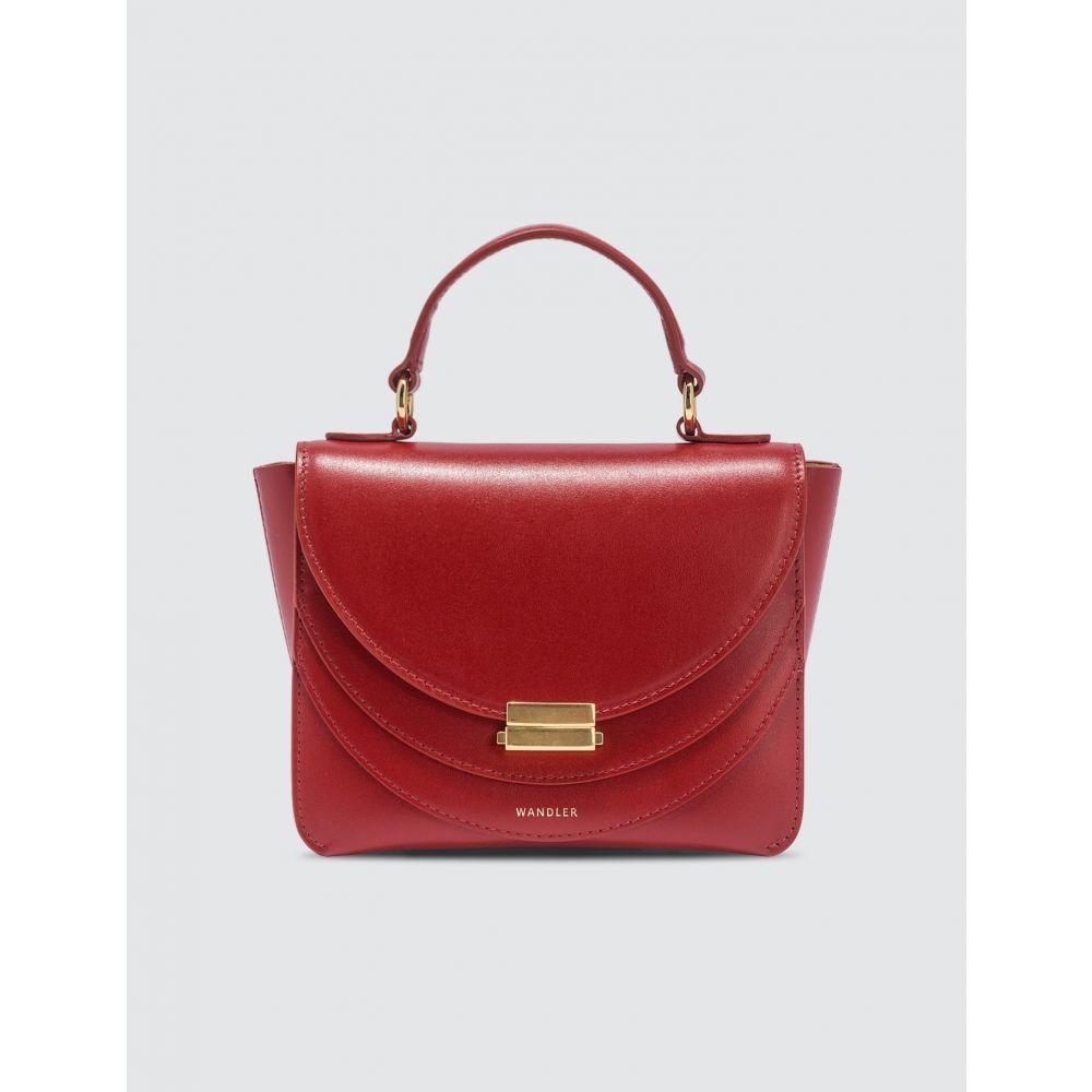 ワンダラー Wandler レディース ショルダーバッグ バッグ【Luna Mini Bag】Red/Mahogany