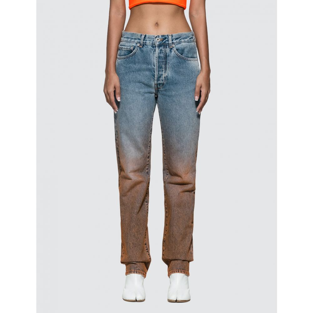 オフホワイト Off-White レディース ジーンズ・デニム ボトムス・パンツ【Degrade Two-tone Jeans】Washed Blue/Orange