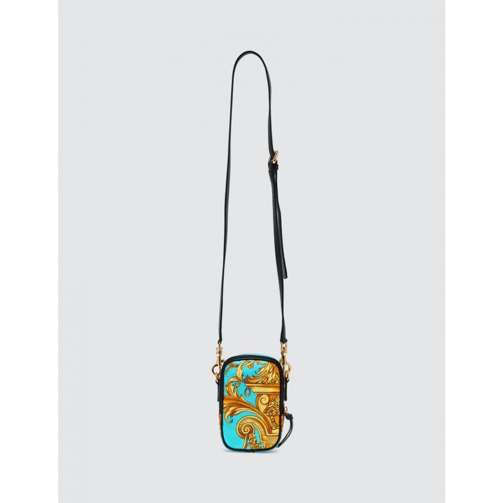 ヴェルサーチ Versace メンズ ショルダーバッグ バッグ【Baroque Print Crossbody Bag】Blue/Gold
