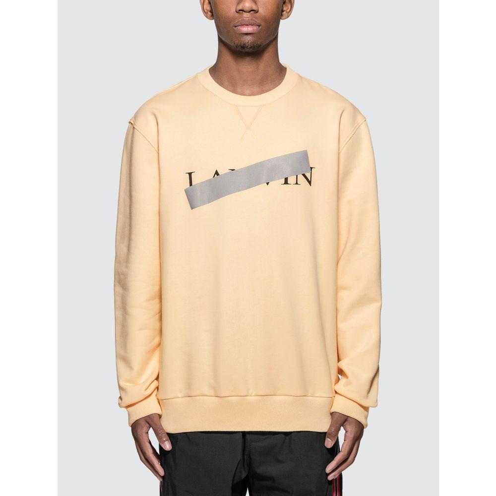 ランバン Lanvin メンズ スウェット・トレーナー トップス【Bar Print Sweatshirt】Light Yellow