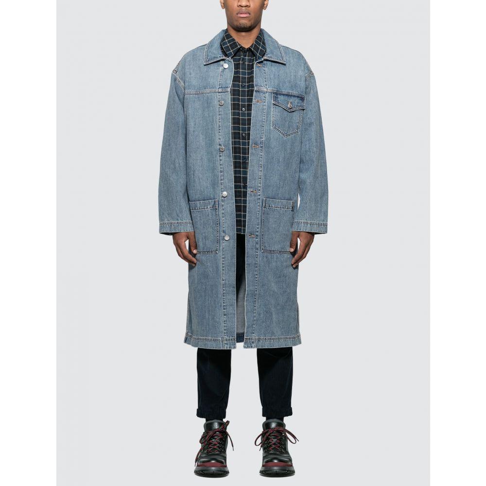 マーティン ローズ Martine Rose メンズ コート アウター【Denim Caretaker Coat】Washed Blue
