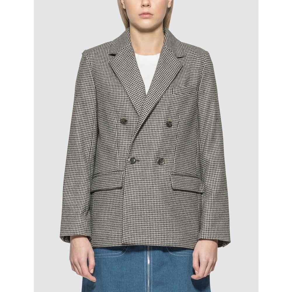アーペーセー A.P.C. レディース スーツ・ジャケット アウター【Plum jacket】Black/White