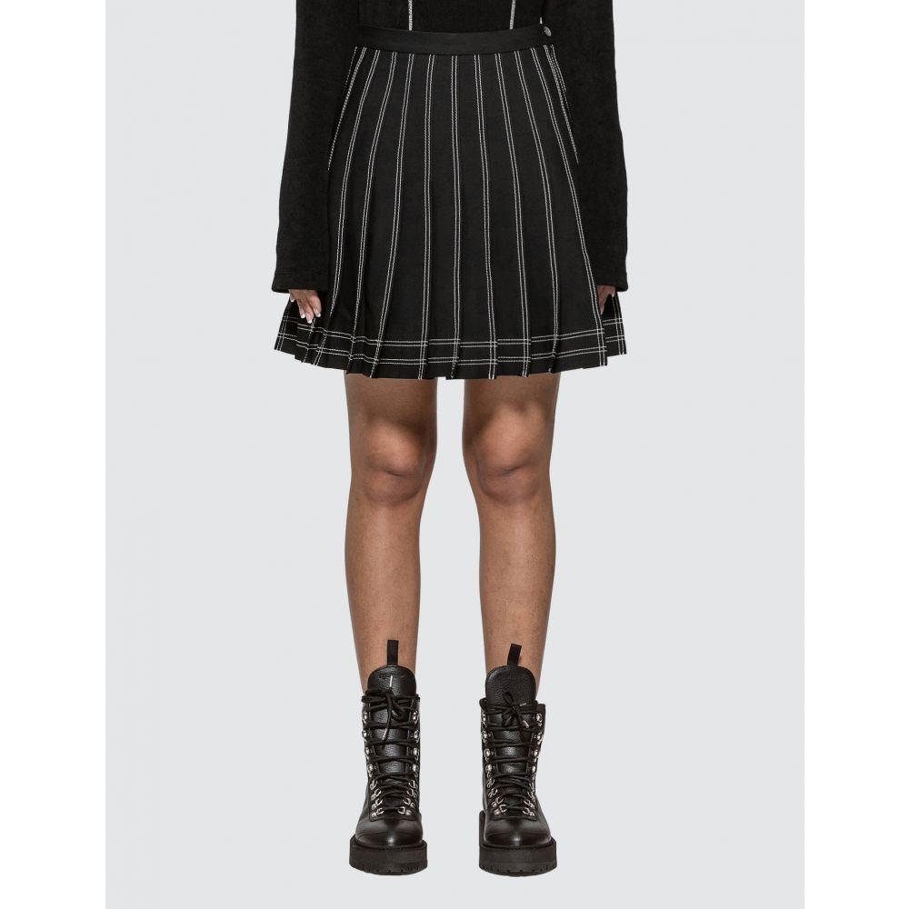 オフホワイト Off-White レディース ミニスカート スカート【Pleated Twill Mini Skirt】Black