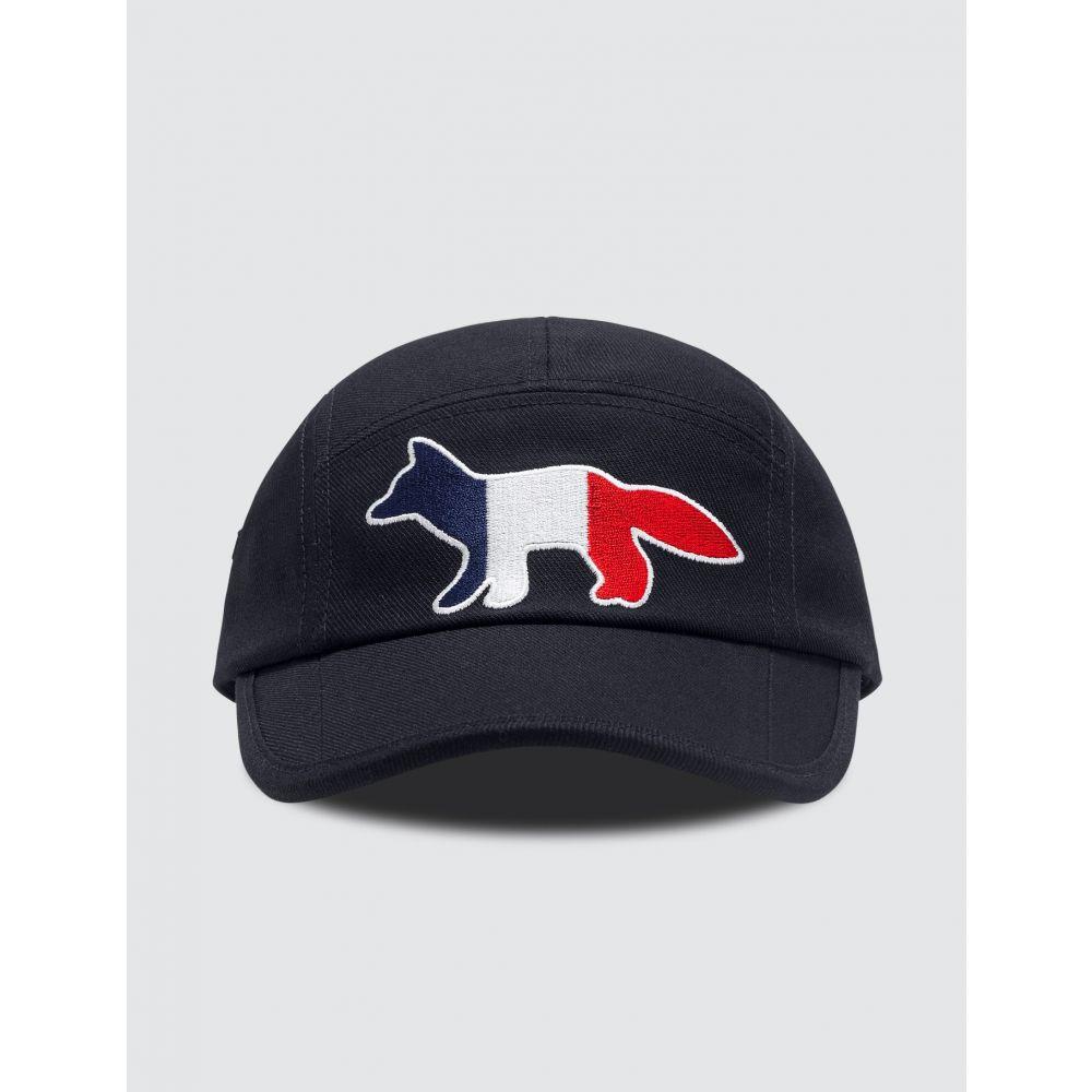 メゾン キツネ Maison Kitsune メンズ キャップ 帽子【5P Tricolor Fox Cap】Navy