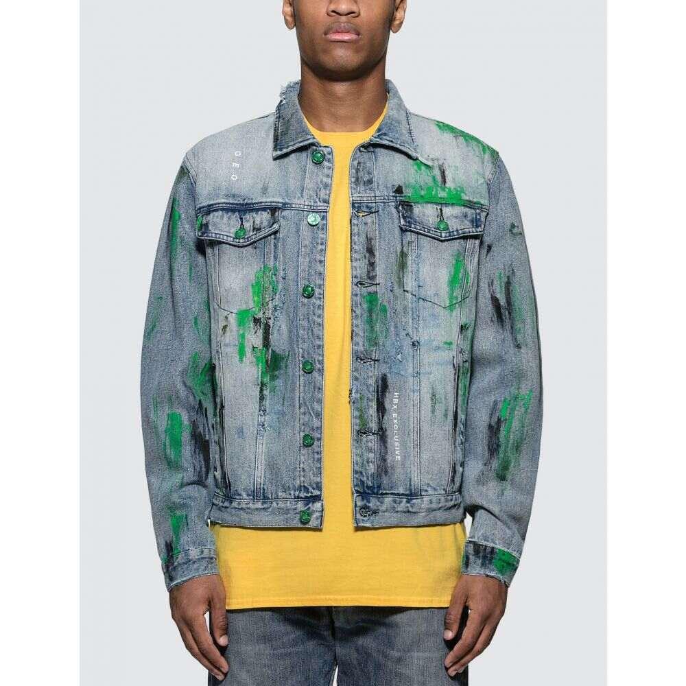 GEO メンズ ジャケット Gジャン アウター【Custom Denim Jacket】Blue