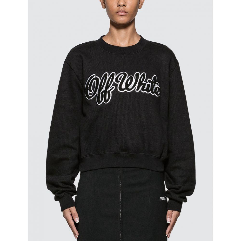 オフホワイト Off-White レディース スウェット・トレーナー トップス【Textured Logo Sweatshirt】Black