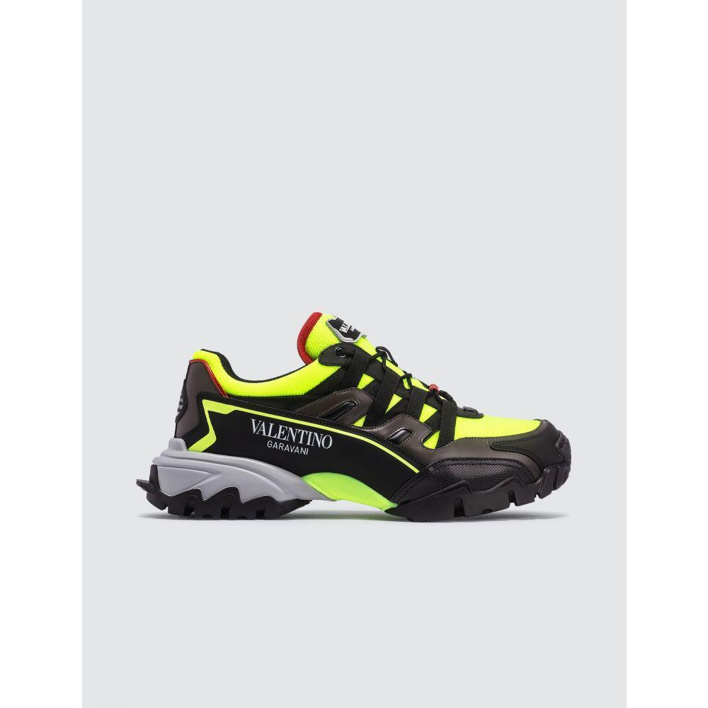 ヴァレンティノ Valentino メンズ スニーカー シューズ・靴【Garavani Climber sneakers】Black/Neon Green