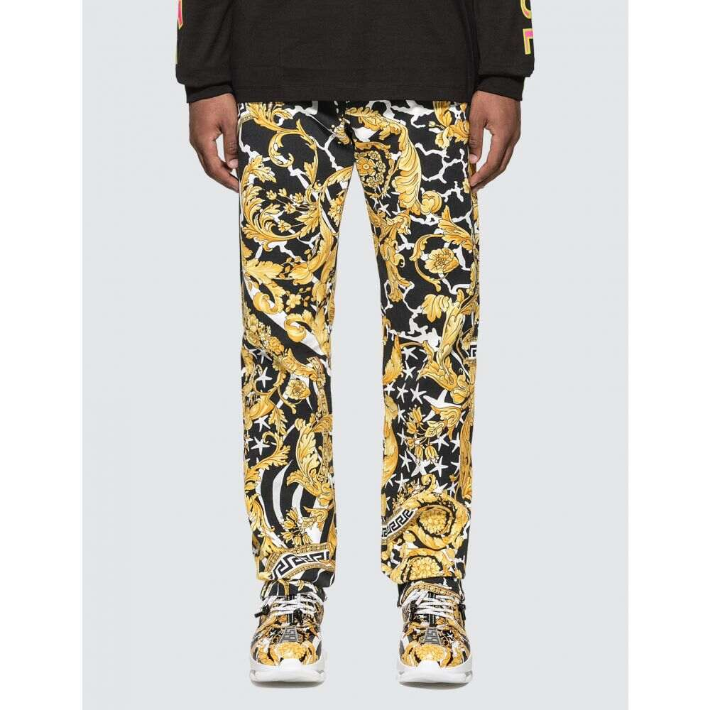 ヴェルサーチ Versace メンズ ジーンズ・デニム ボトムス・パンツ【Classic Baroque Stretch Jeans】Black/Gold
