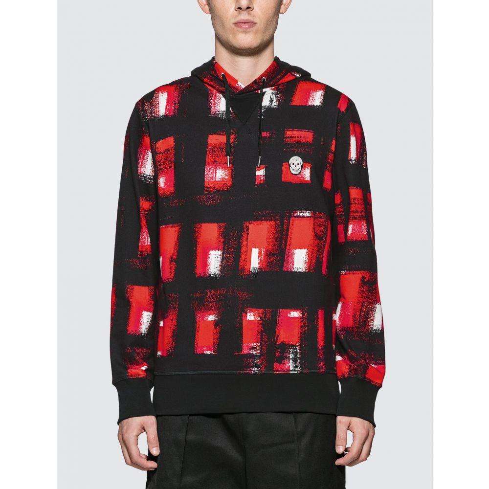 アレキサンダー マックイーン Alexander McQueen メンズ パーカー トップス【Painted Checker Hoodie】Red/Black