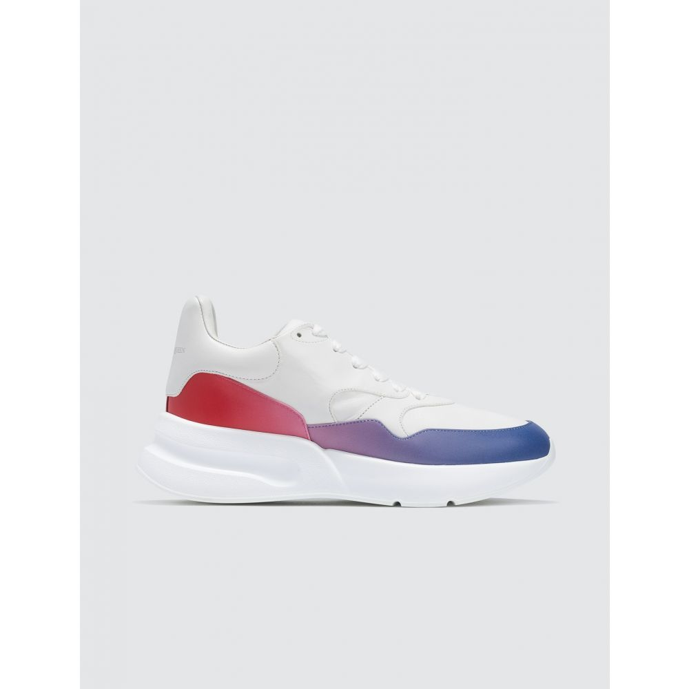 アレキサンダー マックイーン Alexander McQueen メンズ スニーカー シューズ・靴【Leather Sneakers】Opt.whi/multi Red