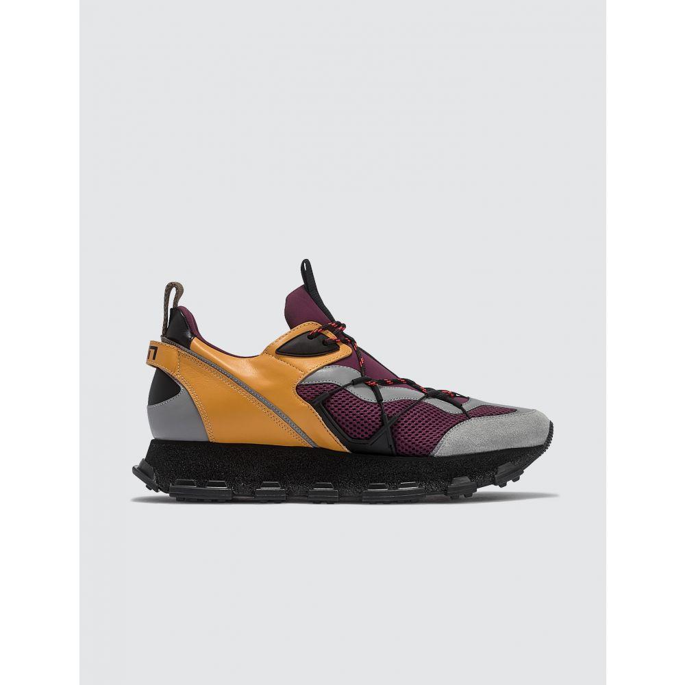 ランバン Lanvin メンズ スニーカー シューズ・靴【Vega Sneaker】Yellow/Wine Red/Grey