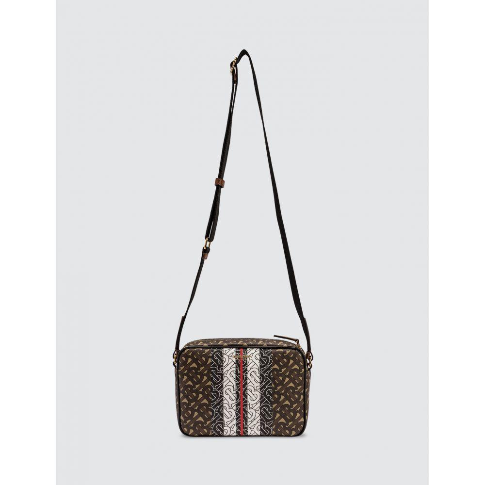 バーバリー Burberry メンズ ショルダーバッグ バッグ【Monogram Stripe E-canvas Crossbody Bag】Bridle Brown