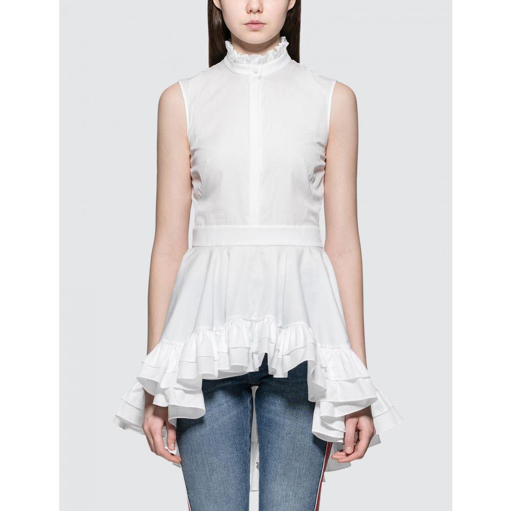 アレキサンダー マックイーン Alexander McQueen レディース ブラウス・シャツ トップス【Ruff Sleeve Poplin Shirt】White
