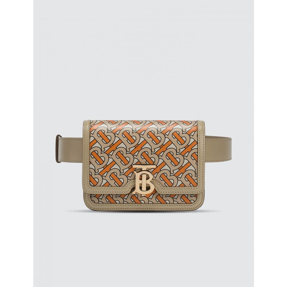 バーバリー Burberry レディース ボディバッグ・ウエストポーチ バッグ【Belted Monogram Print Leather TB Bag】Bright Orange