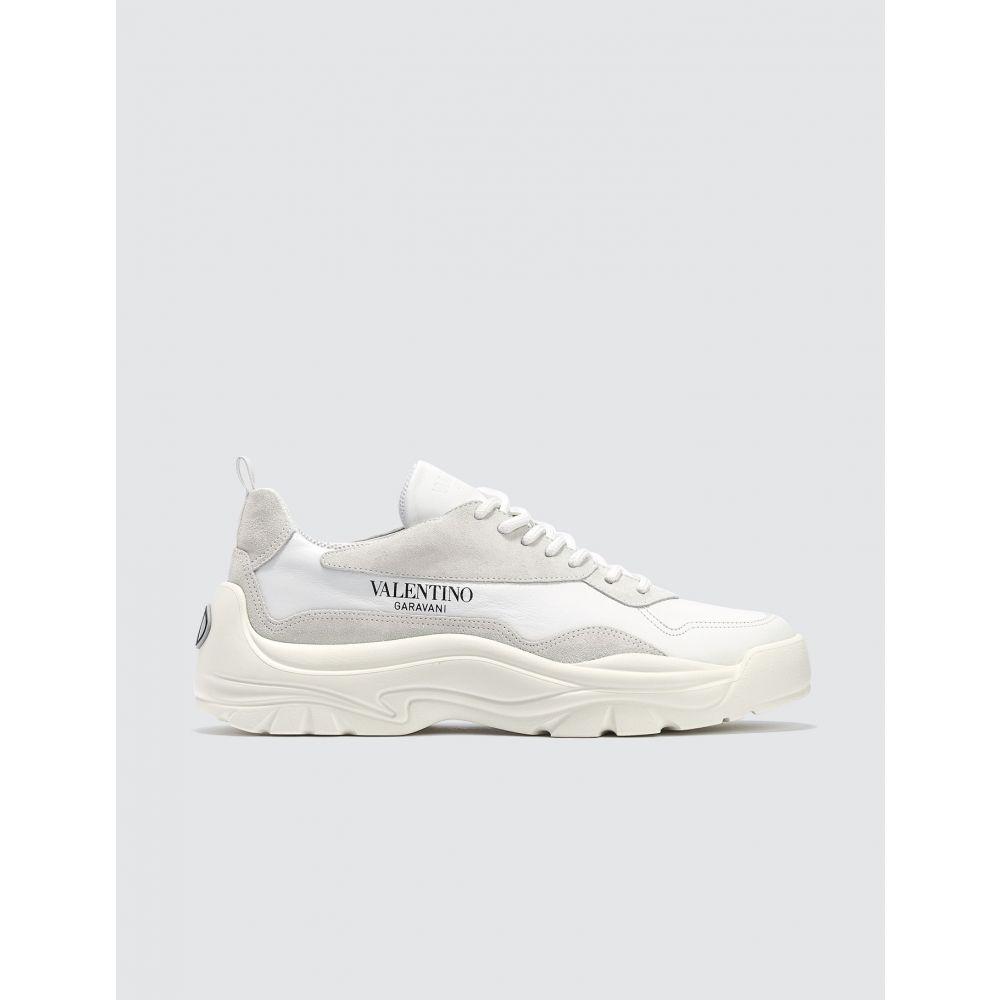 ヴァレンティノ Valentino メンズ スニーカー シューズ・靴【Garavani Calfskin and Suede Leather Sneaker】White