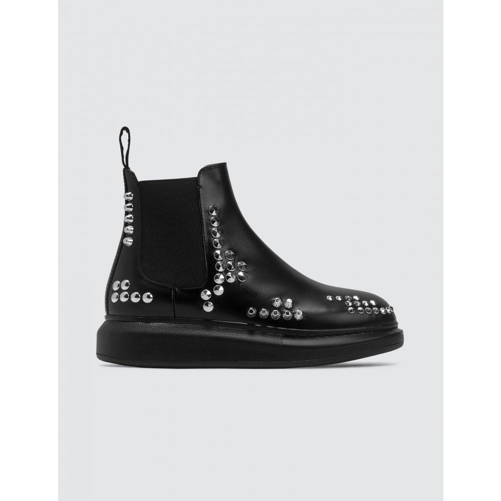 アレキサンダー マックイーン Alexander McQueen レディース ブーツ チェルシーブーツ シューズ・靴【Studded Chelsea Boots】Black/Silver