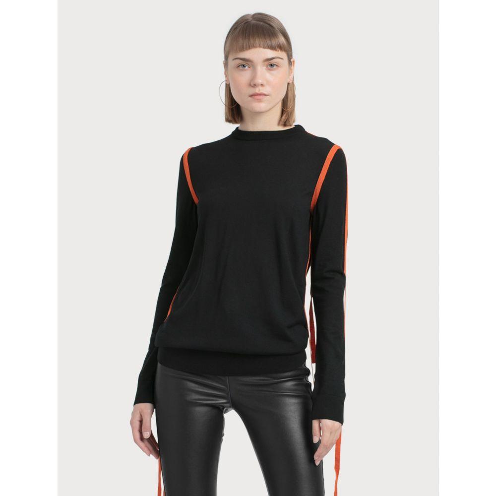 ロエベ Loewe レディース ニット・セーター トップス【Strap Sweater】Black/orange