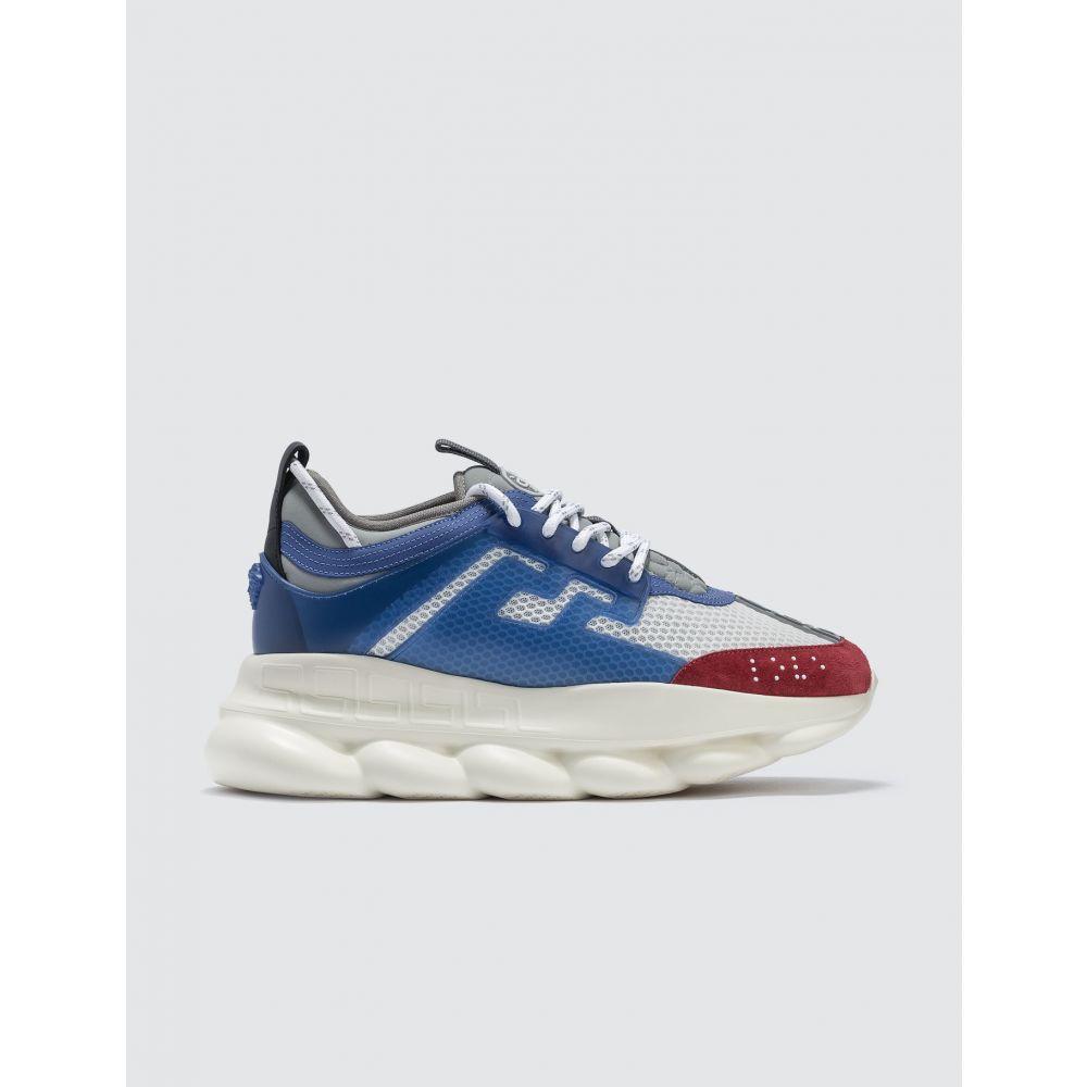 ヴェルサーチ Versace メンズ スニーカー シューズ・靴【Chain Reaction Sneakers】Blue/Red/White