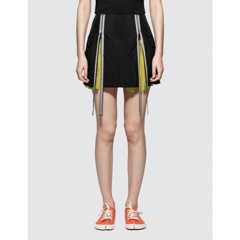 メゾン マルジェラ Maison Margiela レディース ミニスカート スカート【Nylon Slighly FroisE Mini Skirt】Black