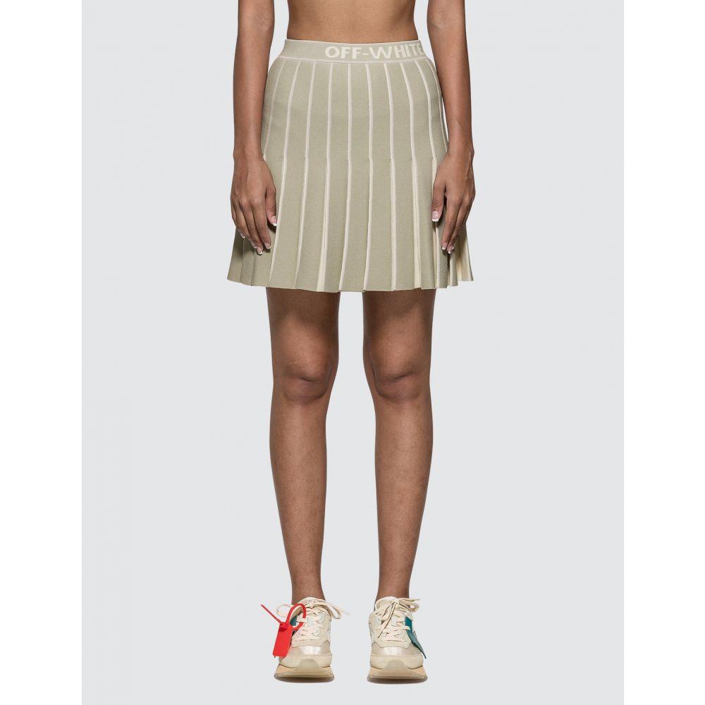 オフホワイト Off-White レディース ミニスカート スカート【Knit Swans Mini Skirt】Light Green