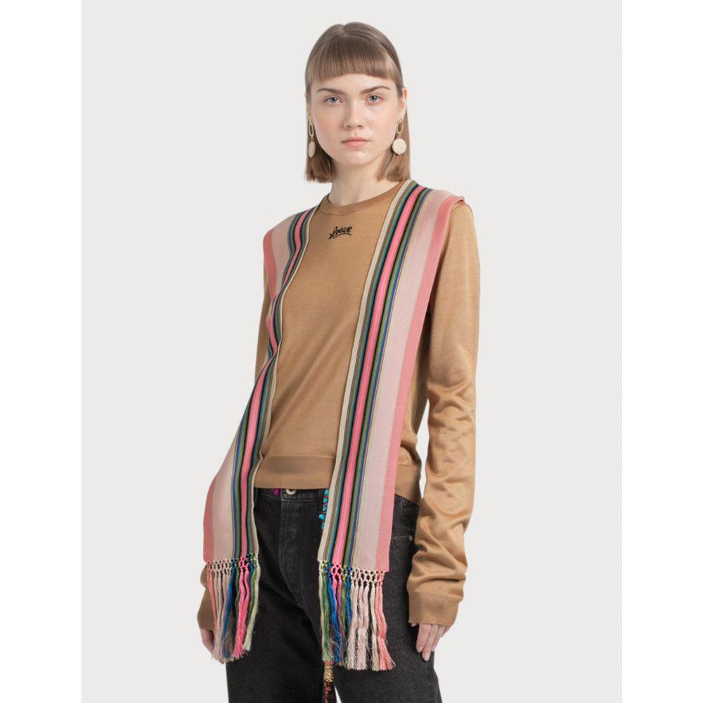 ロエベ Loewe レディース ニット・セーター トップス【Sweater Stripe Bands】Camel/Multicolor