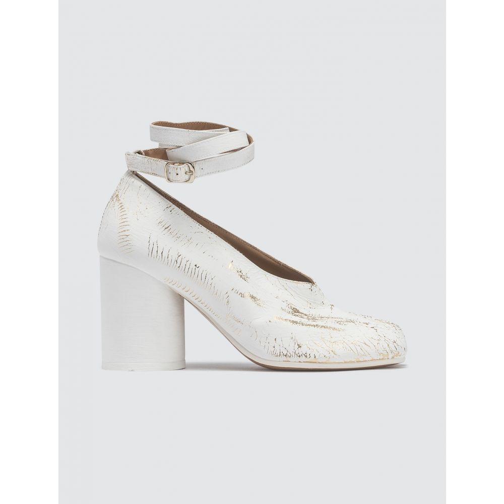 メゾン マルジェラ Maison Margiela レディース パンプス アンクルストラップ シューズ・靴【Ankle Strap Tabi Pumps】White