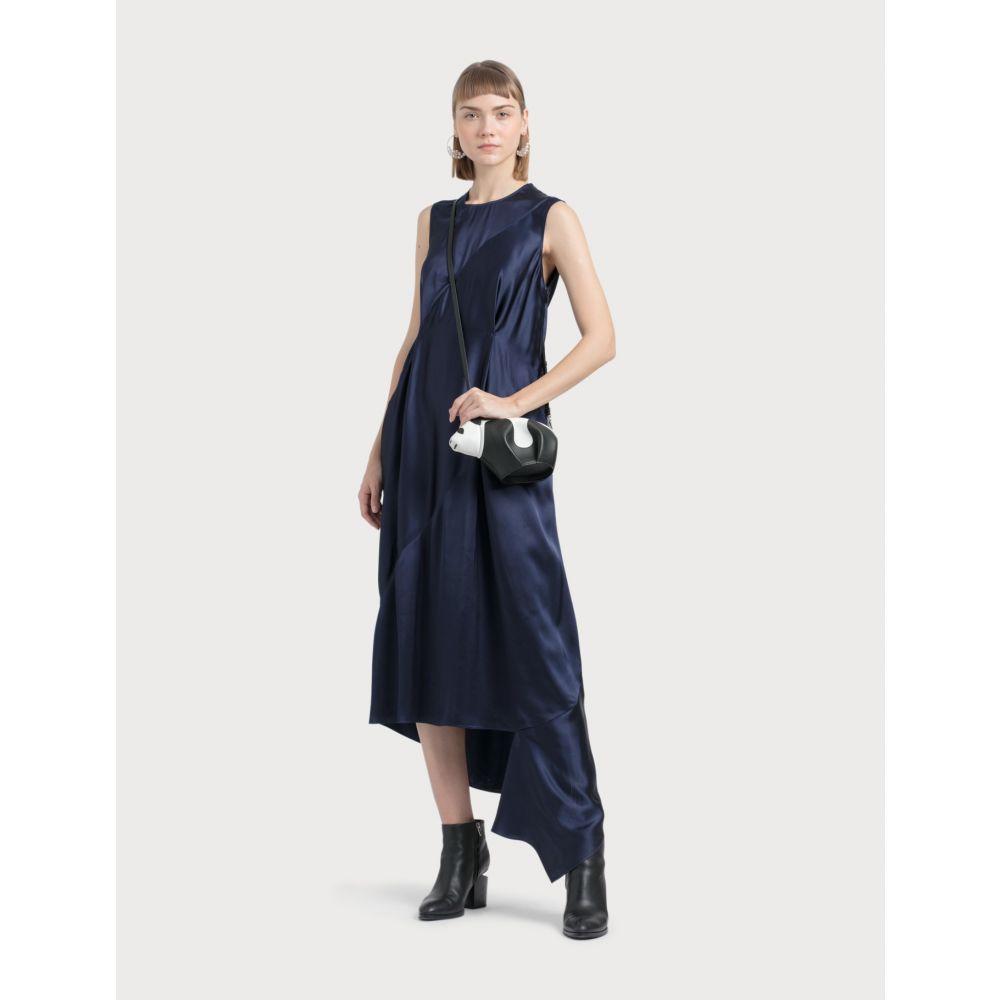 ロエベ Loewe レディース ワンピース ノースリーブ ワンピース・ドレス【Sleeveless Satin Dress】Navy Blue