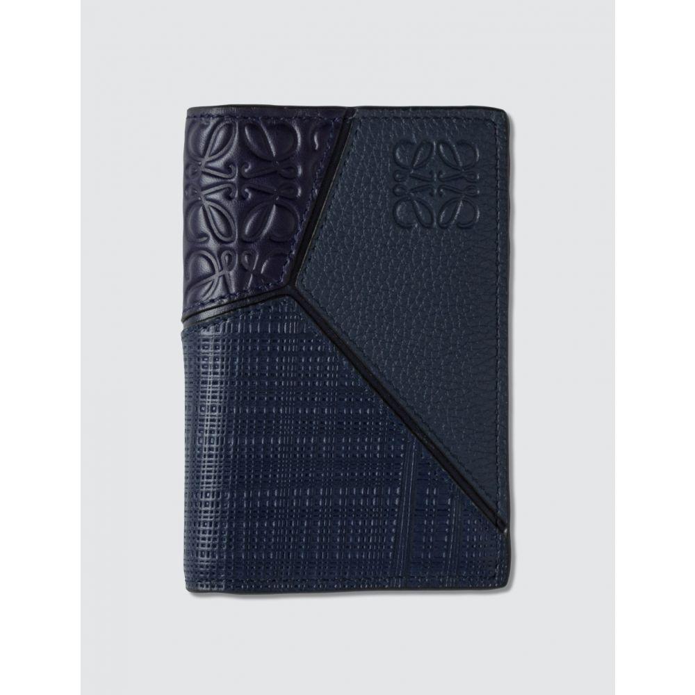 ロエベ Loewe メンズ カードケース・名刺入れ 二つ折り【Puzzle Bifold Card】Navy