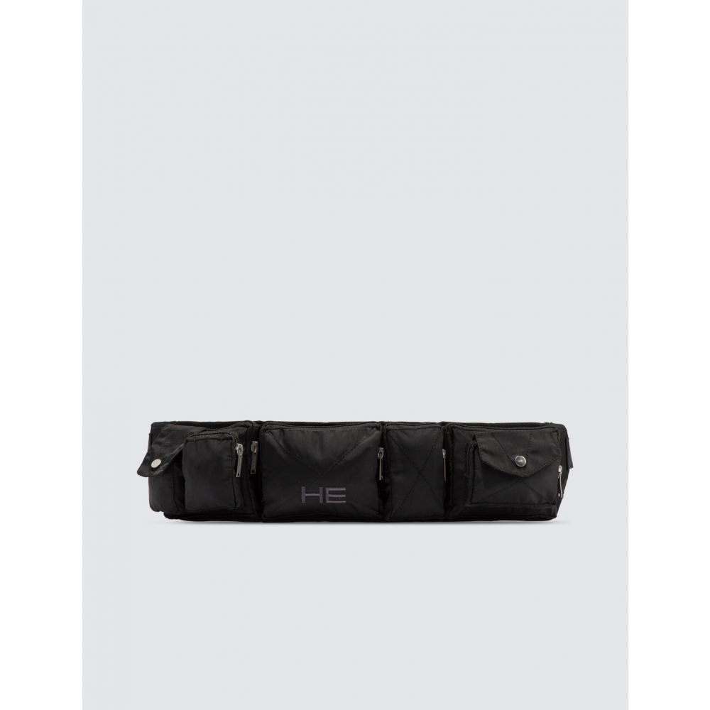 エリオットエミル Heliot Emil メンズ ボディバッグ・ウエストポーチ バッグ【Tactical Belt Bag】Black