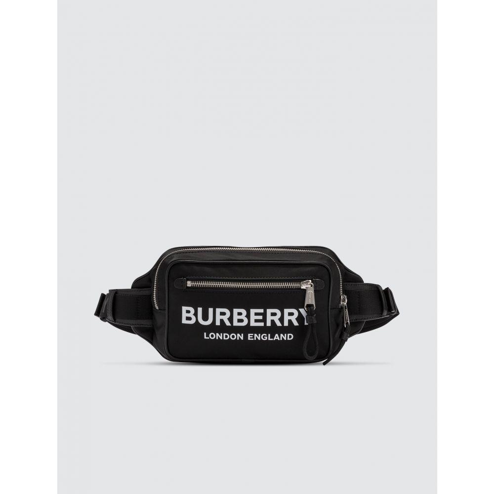 バーバリー Burberry メンズ ボディバッグ・ウエストポーチ バッグ【Logo Print ECONYL Bum Bag】Black