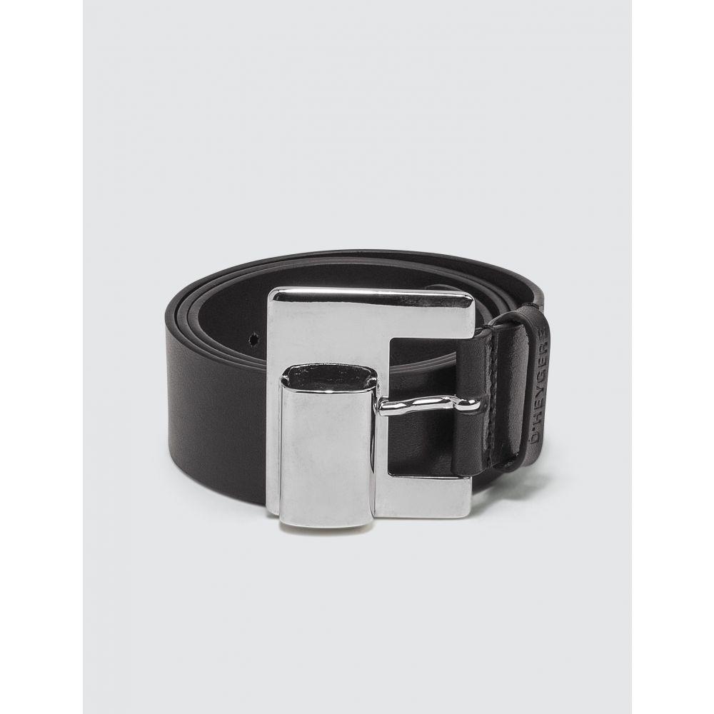 ディヘラ D'heygere メンズ ベルト 【Lighter Belt】Black/Silver