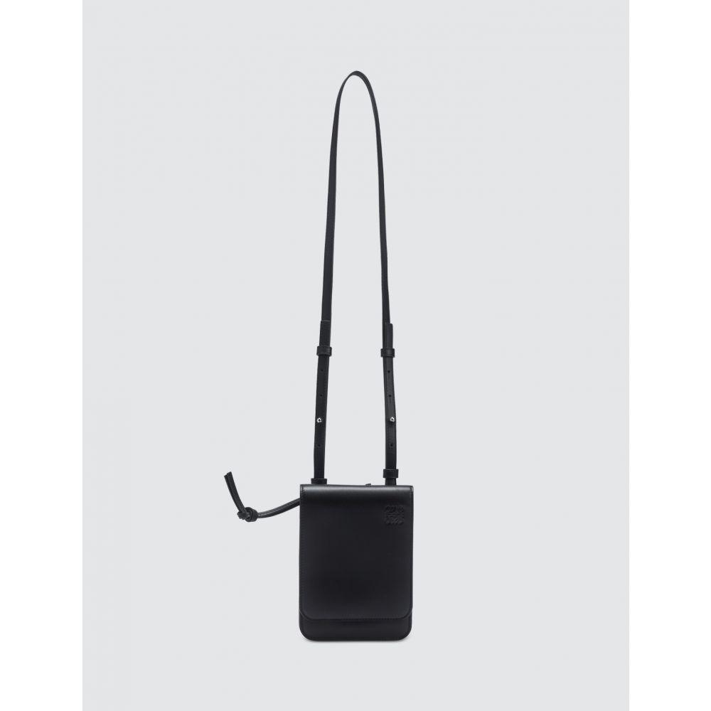 ロエベ Loewe メンズ ショルダーバッグ バッグ【Gusset Flat Crossbody Bag】Black