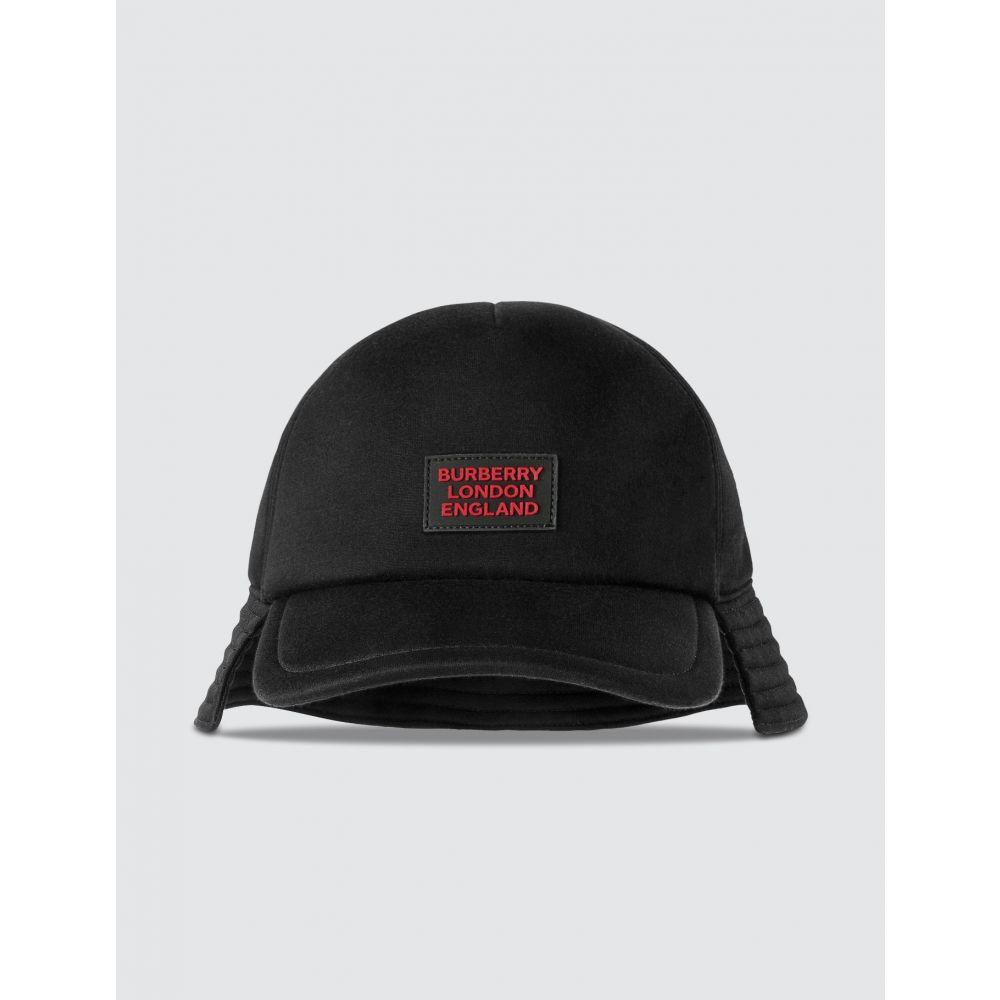 バーバリー Burberry レディース キャップ ベースボールキャップ 帽子【Logo Applique Reconstructed Baseball Cap】Black