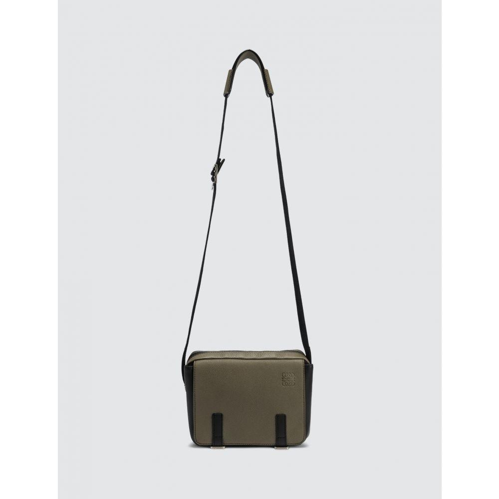 ロエベ Loewe メンズ メッセンジャーバッグ バッグ【Military Messenger Xs Bag】Khaki Green/Black
