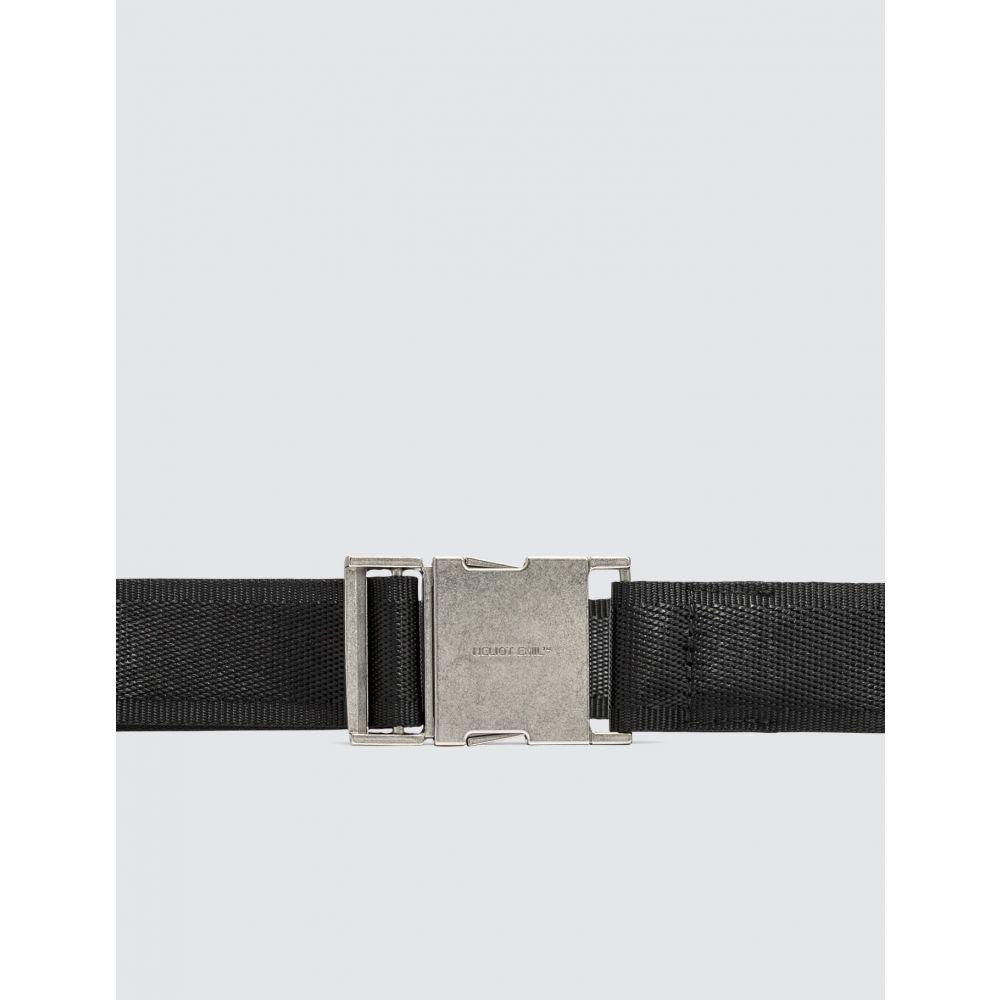 エリオットエミル Heliot Emil メンズ ベルト 【Nylon Webbing Belt】Black