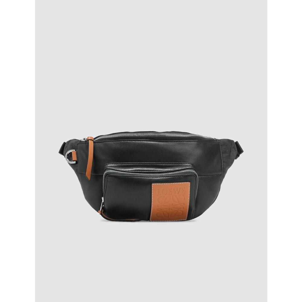 ロエベ Loewe メンズ ボディバッグ・ウエストポーチ バッグ【Puffy Bumbag】Black