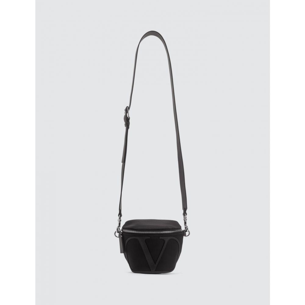 ヴァレンティノ Valentino メンズ ボディバッグ・ウエストポーチ バッグ【Garavani Logo Small Waist Bag】Black