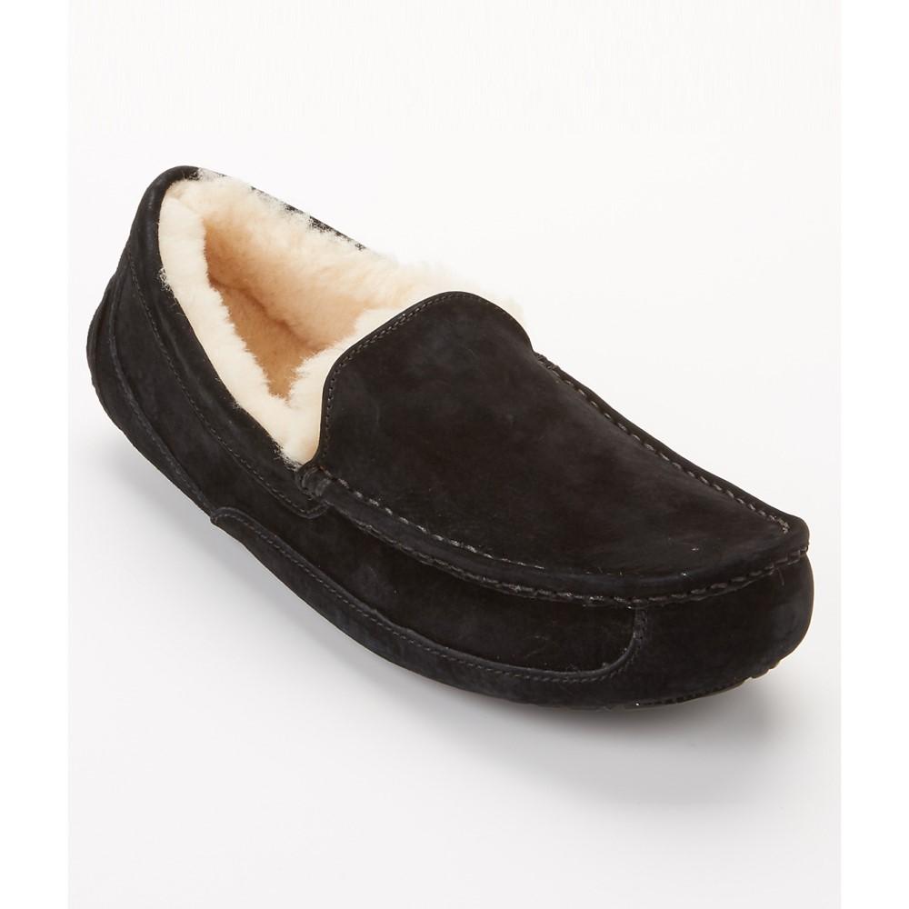 アグ メンズ シューズ・靴 スリッパ【UGG Ascot Suede Slippers】Black